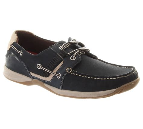 chatham goodison deck shoe for in navy