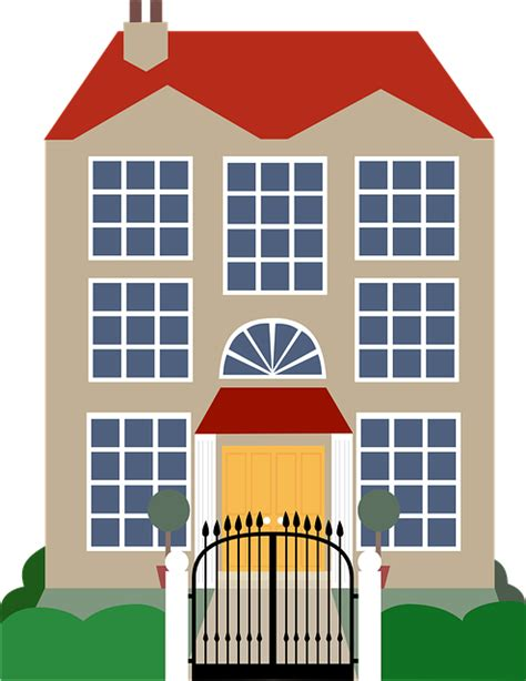 art for house free vector graphic house clip art mansion rich