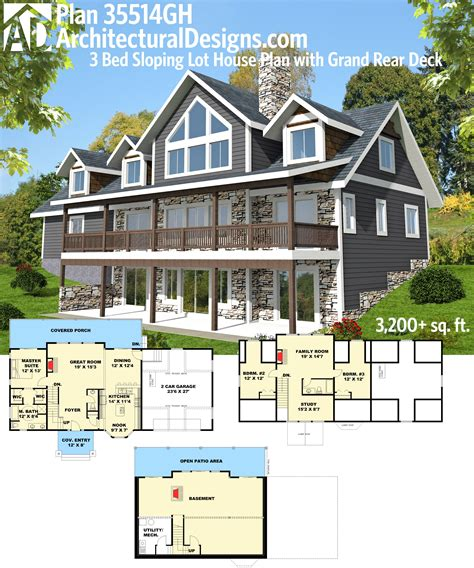 front sloping lot house plans lakefront homes house plans lakefront house plans sloping lot decorating home decor