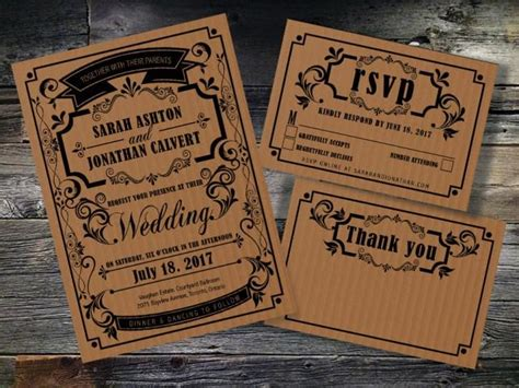 Rustic Rsvp Card Template Free by Printable Wedding Invitation Instant Wedding