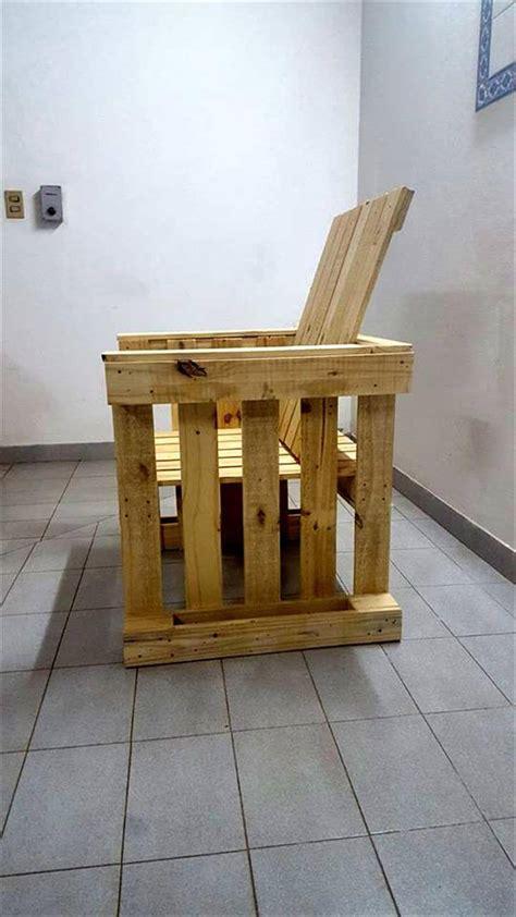 pallet armchair diy pallet armchair design