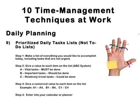 Top 10 Time Management Tips For Every Day by Pdt Time Management Initiave And Travel