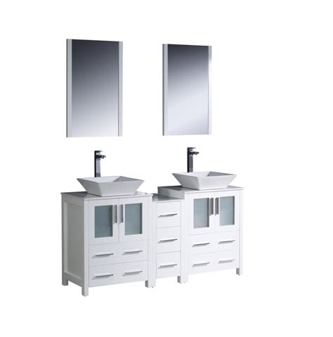60 inch white bathroom vanity 60 inch double vessel sink bathroom vanity in white