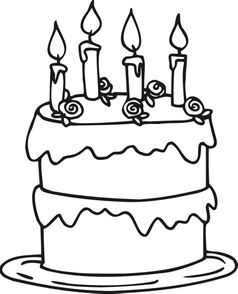 coloring pages happy birthday cake candles birthday cake coloring pages printable