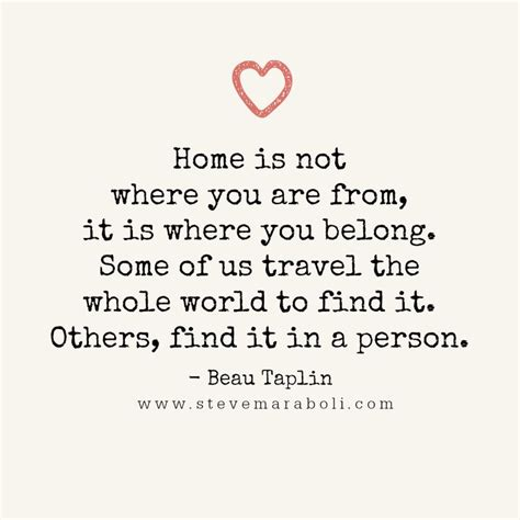 home is not where you are from it is where you belong