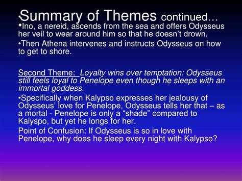 themes in the book drown ppt the odyssey book 5 sweet nymph and open sea
