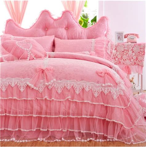 purple bed skirt free shipping korean princess lace bedspread wedding