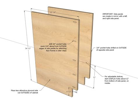 plans for building kitchen cabinets ana white 6 quot filler tray base cabinet momplex vanilla