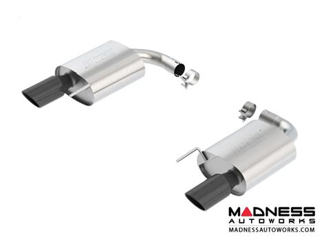 rear section exhaust ford ford mustang gt performance exhaust by borla