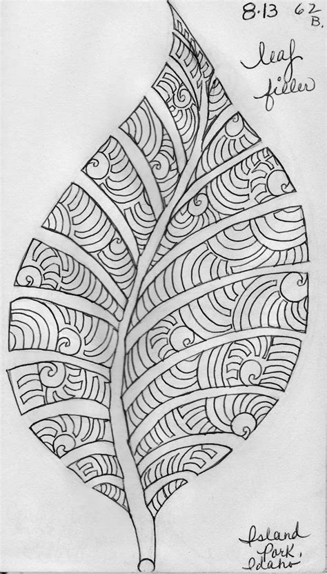 pattern design sketch luann kessi sketch book leaf design 6