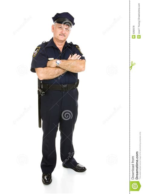 policeman isolated royalty free stock photos
