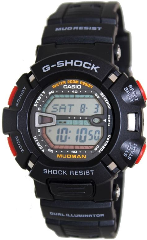 Casio Men's G-Shock Mudman G9000-1V Digital Resin Quartz ... G Shock Mudman G9000