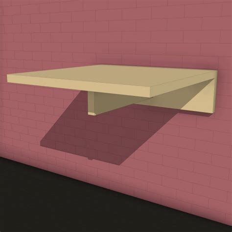 Rotsen Furniture lax series wall mounted table 10393 2 00 revit