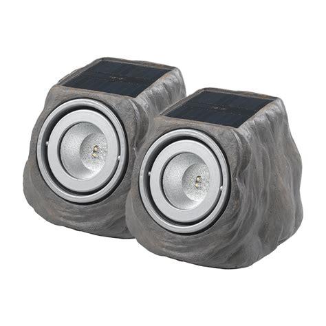 solar rock light duracell light grey led solar rock light 2 pack