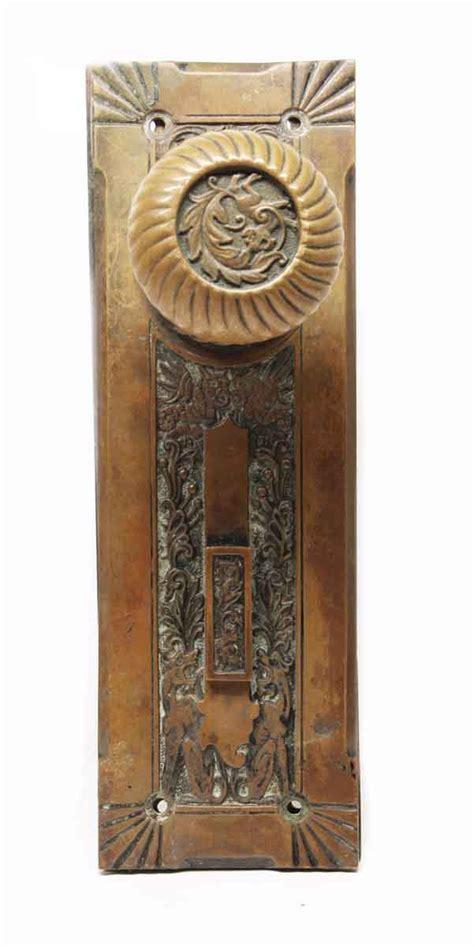 Door Knob And Plate Set by Antique Corbin Empire Bronze Knob Plate Set Olde