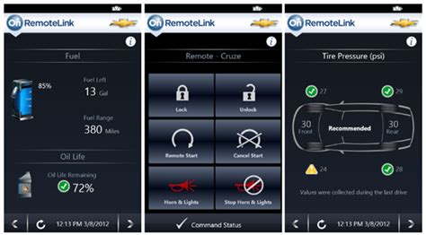 onstar remotelink can start the car unlock doors from