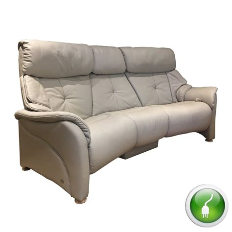 Curved Reclining Sofa Himolla Chester 3 Seater Electric Curved Reclining Sofa With Table