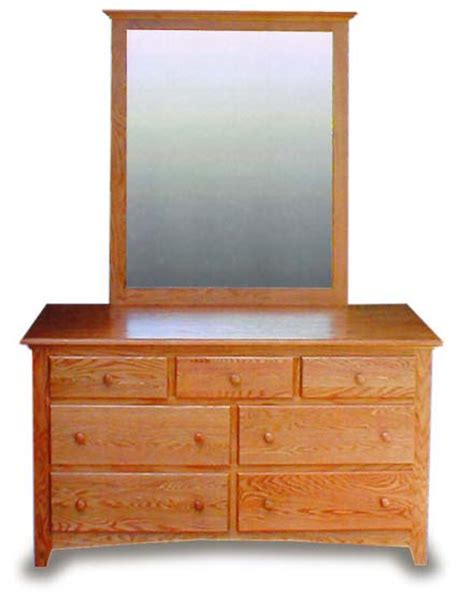 shaker style dresser with mirror amish bedroom 55 quot shaker dresser mirror amish bedroom