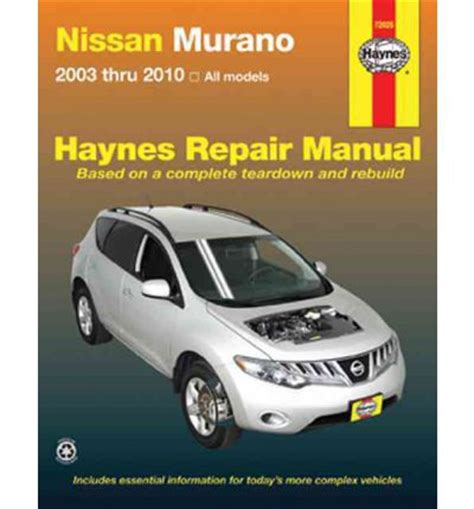auto repair manual online 2003 nissan murano on board diagnostic system nissan murano service and repair manual sagin workshop car manuals repair books information