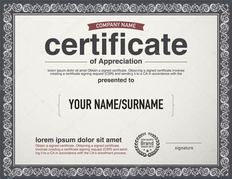 layout design certification modern layout vector certificate template stock vector