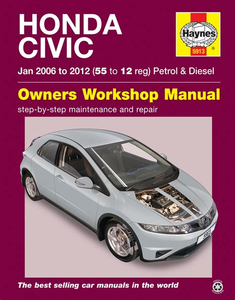 haynes workshop repair manual for honda civic jan 06 12 55 to 12 5913