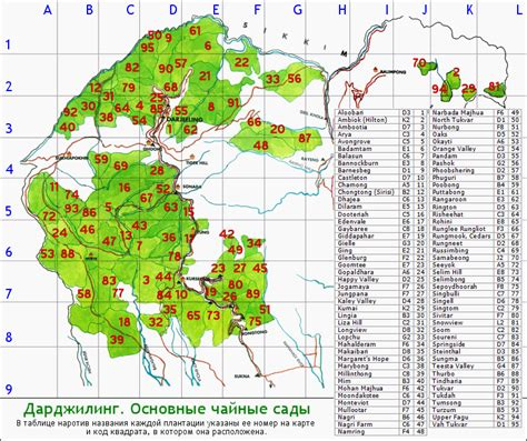 Garden Location Darjeeling Tea Garden Location Map Tea