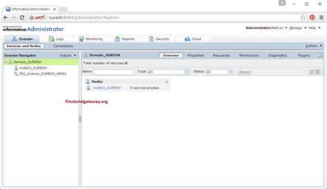 admin console informatica admin console