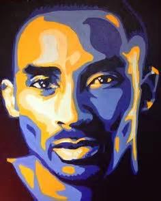 basketball pop art paintings kobe bryant stencil art painting on canvas black mamba