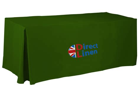 Branded Tablecloths Fitted With Logo Direct Linen Made In Uk