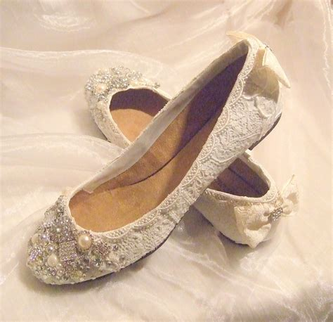 flat wedding shoes newly designed collection of pearl lace flat wedding