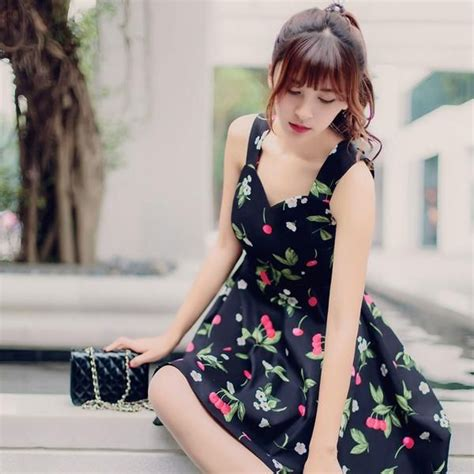 Dress Korea Cherry korean fashion japanese sweet cherries flower print