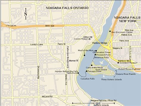 usa map niagara falls nimar58 usa east niagara toronto