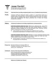 Certified Nursing Assistant Cover Letter Exles by Cna Resume No Experience Template Design