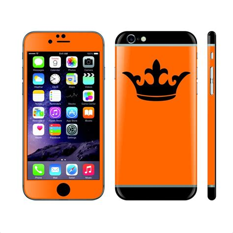 custom themes for iphone 6 iphone 6 custom colorful design crown skin wrap decal