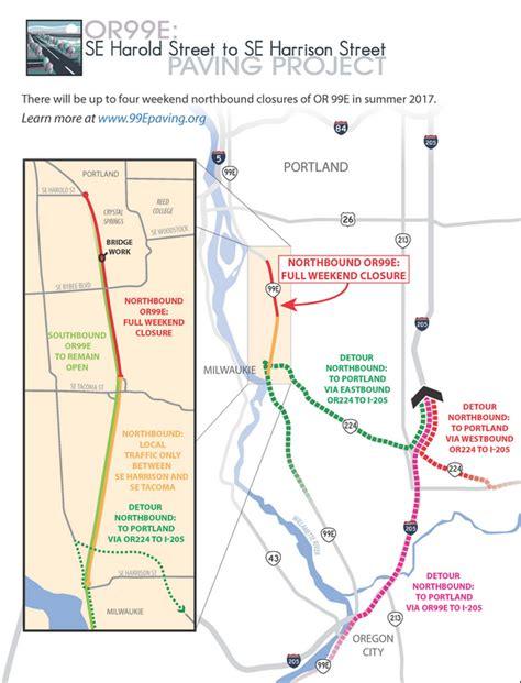 map of oregon 205 portland metro friday traffic monitor the morning commute