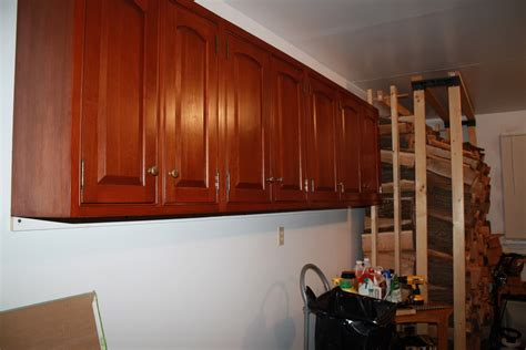 how to hang garage cabinets hang old kitchen cabinets in garage gnewsinfo com