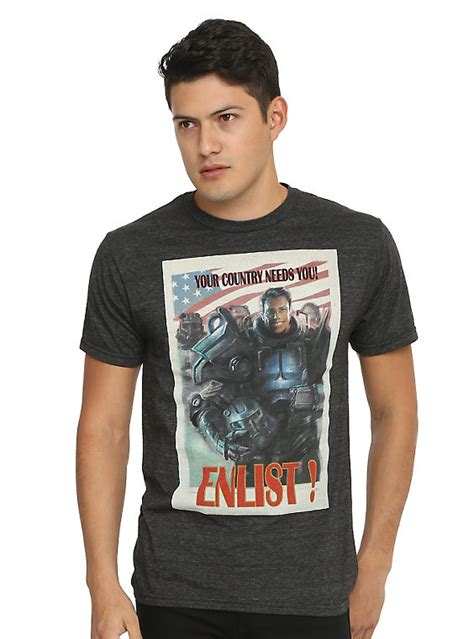 tshirt of steel cl fallout 4 brotherhood of steel enlist poster t shirt