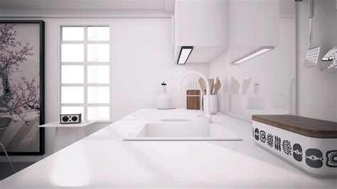 closed kitchen cgarchitect professional 3d architectural visualization