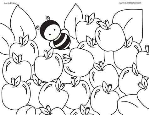 apple picking coloring page bumble of joy apple picking coloring page contest