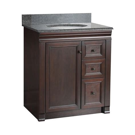 right side sink vanity foremost shawna 30 in single bathroom vanity with right