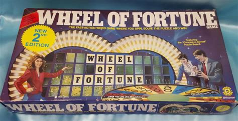 vintage 1985 1986 wheel of fortune 2nd edition board