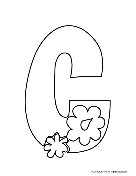 printable letters with flowers c woo jr kids activities