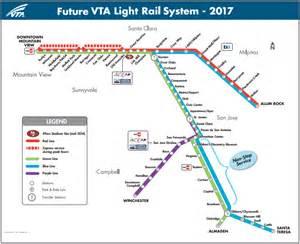 San Jose Vta Map by The San Jose Blog The Vta Light Rail Efficiency Project