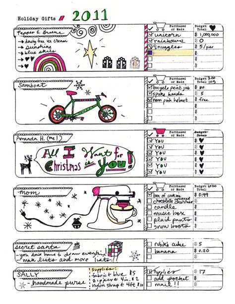 diy planner templates gifts list amanda hawkins