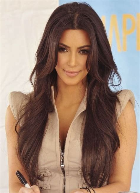 kim kardashian long hairstyles brown hair popular haircuts