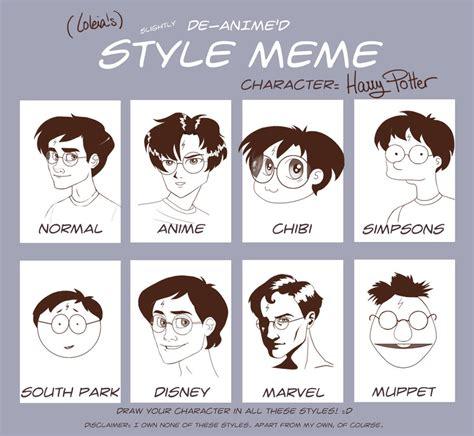 Meme Comic Characters - de anime d style meme by loleia on deviantart
