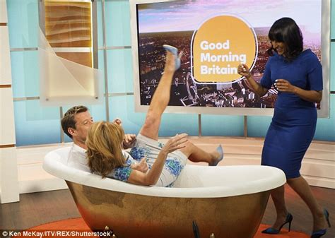 Getting In The Bathroom by Ben Shepherd Pulls Kate Garraway Into A Freezing Bath Live On Morning Britain Daily Mail