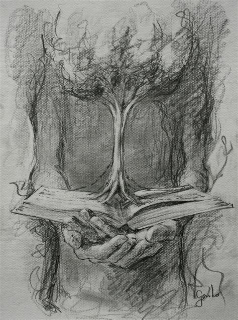 imagenes a lapiz de arboles gaito quot libro 225 rbol y manos quot dibujo a l 225 piz