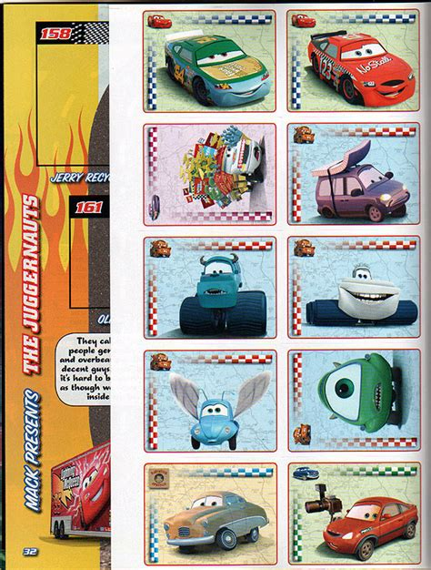 Cars Toon Sticker Album by Disney Pixar Cars Stickler For Stickers Of Stickers