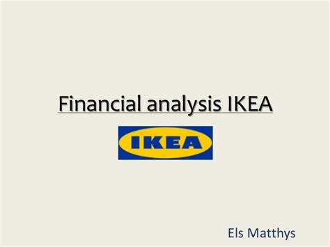 ikea company financial analysis of the ikea company